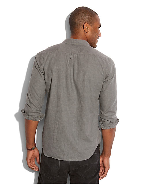HIGHLINE HEATHERED SHIRT, HEATHER GREY