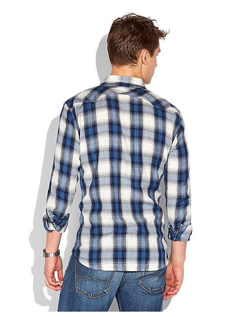 SPEARHEAD PLAID WESTERN, BLUE/NVY/NATL