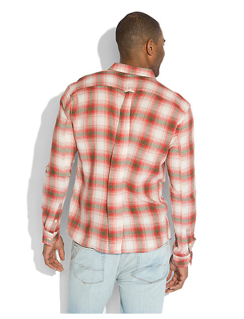 SOUTHWOOD PLAID 2 POCKET, RED/BROWN