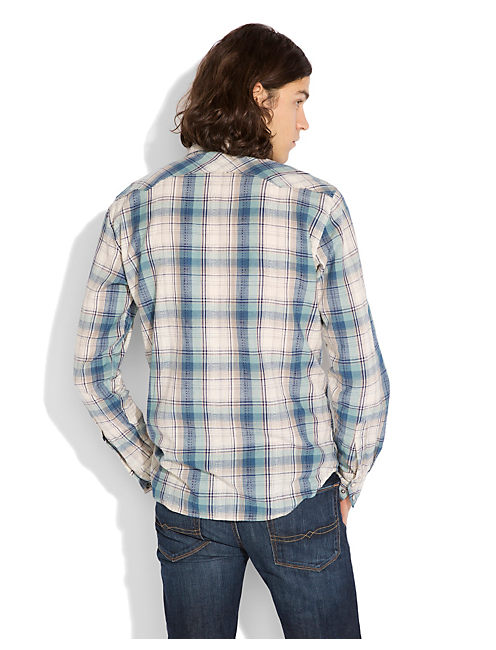 L/S AMBASSADOR PLAID WEST, GREEN/NATL