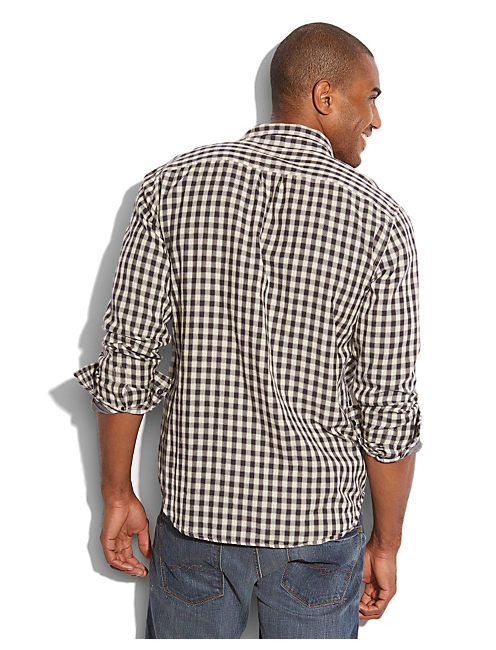 SILVER STREAK PLAID SHIRT, GREY/NATURAL