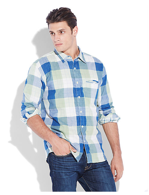 BAILEY 1 POCKET SHIRT, BLUE/GREEN