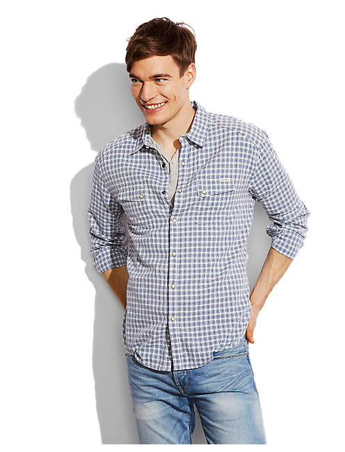 FREMONT WESTERN SHIRT, BLUE/WHITE