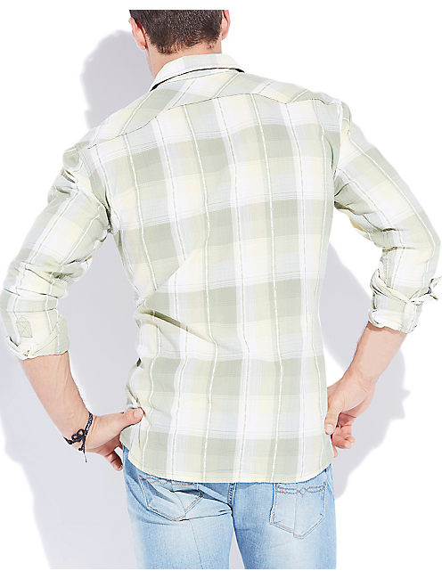 MINTURN WESTERN SHIRT, GREEN PLAID