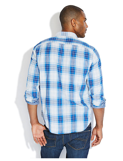 SOMERSET PLAID 1 POCKET, BLUE MULTI