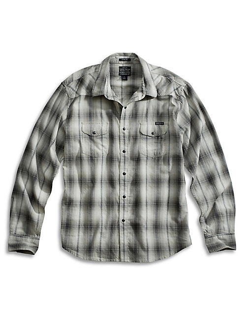 KINGMAN CLASSIC WESTERN, BLACK PLAID