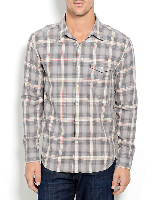 DRAGSTER 1 POCKET SHIRT, GREY PLAID