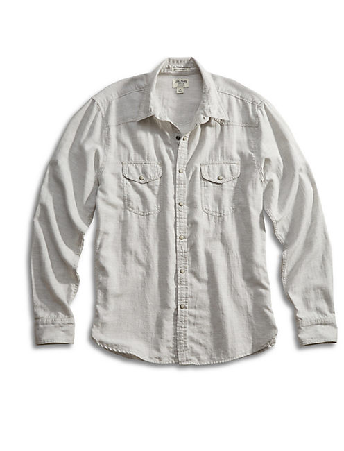 KEYSTONE WESTERN SHIRT, HEATHER GREY