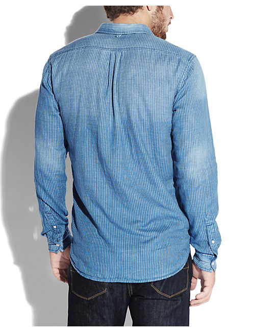 IMPERIAL 1 POCKET SHIRT, BLUE STRIPE