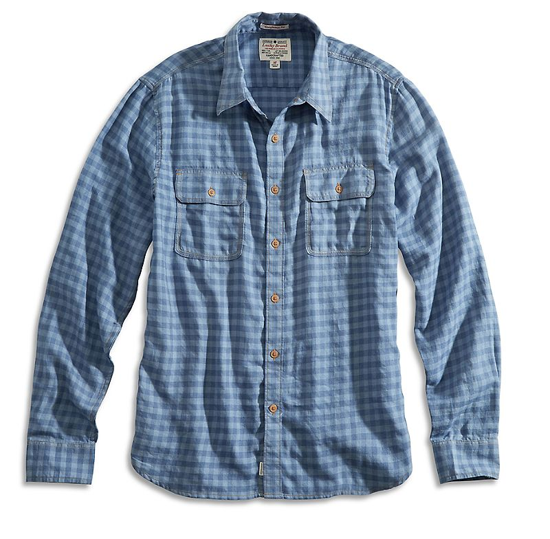 Lucky Brand Fisherman Workwear Shirt Mens $27.99 AT vintagedancer.com