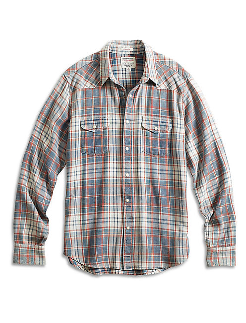 SUN INDIGO WESTERN SHIRT, RED/BLUE