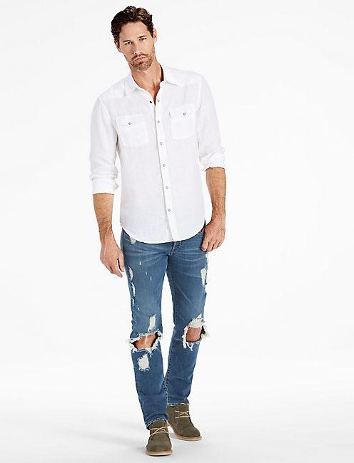 Lucky Laguna Linen Ls Western Shirt