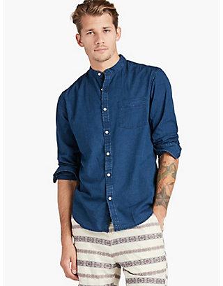 LUCKY Chambray Band Collar Shirt