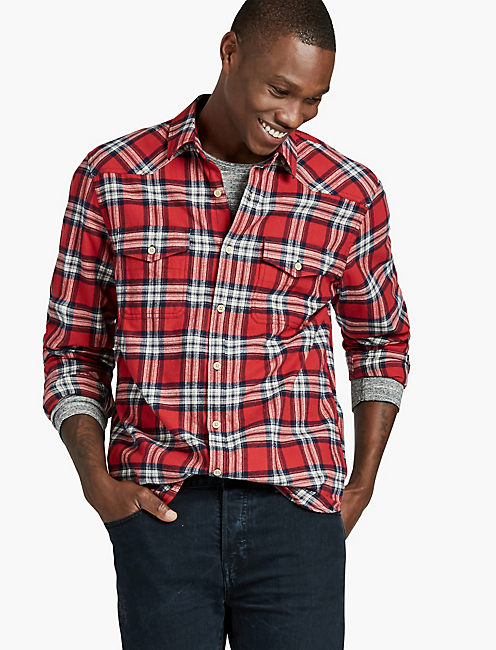 mens flannel shirts lucky brand