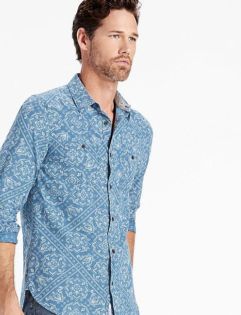 Bandana Print Mason Workwear Shirt,