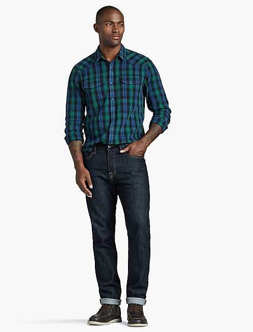SANTA FE WESTERN, GREEN PLAID