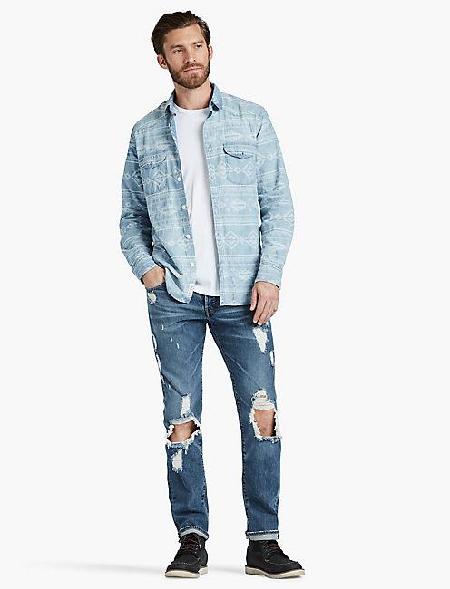 Lucky Jacquard Indigo Western Shirt