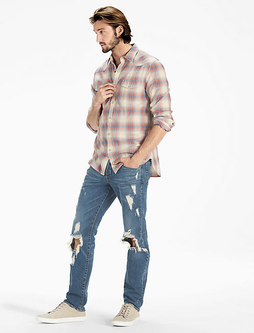 Lucky Plaid Santa Fe Western Shirt