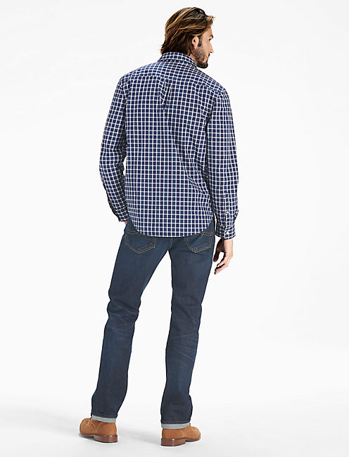 Washed Black Label Shirt, BLUE/WHITE
