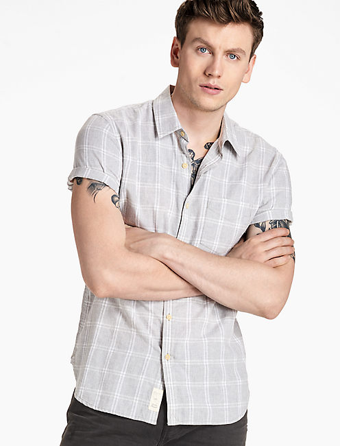 Ballona Short Sleeve Shirt, GREY MULTI