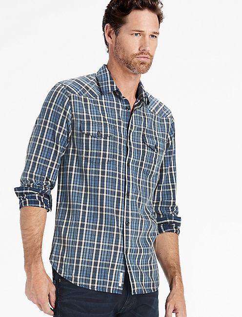 Washed Indigo Santa Fe Western Shirt,
