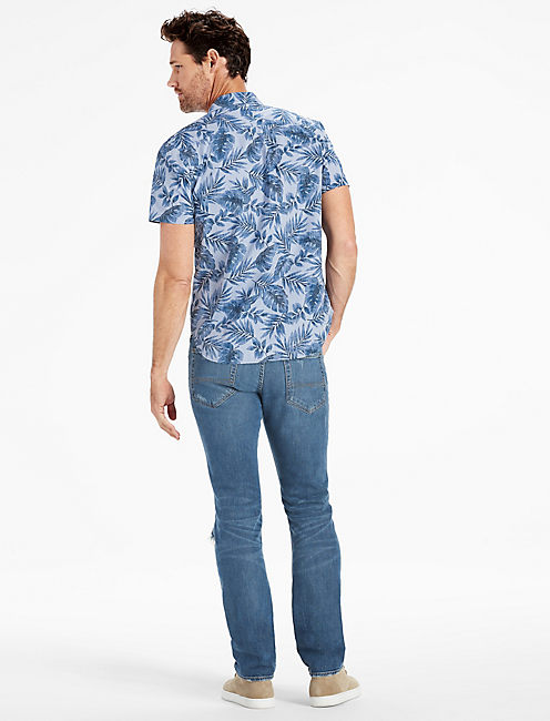 Palmetto Short Sleeve Ballona Shirt, BLUE MULTI