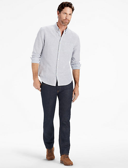 Washed Black Label Shirt, HEATHER GREY