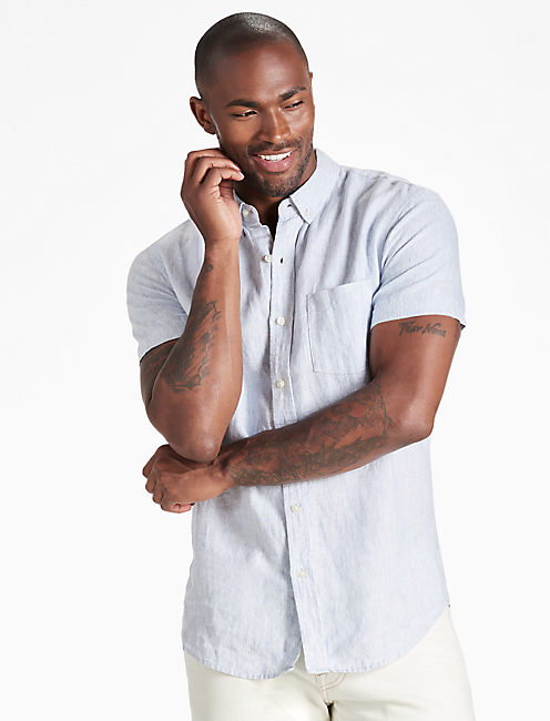 Linen One Pocket Shirt,