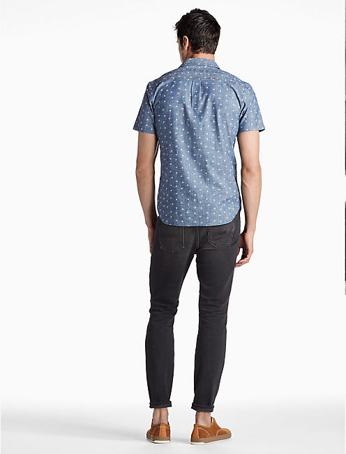 Saturday Stretch One Pocket Shirt, CHAMBRAY PRINT