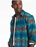 PENDLETON MASON WORK WEAR SHIRT JACKET, TEAL / RAINBOW