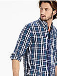 Plaid One Pocket Shirt,