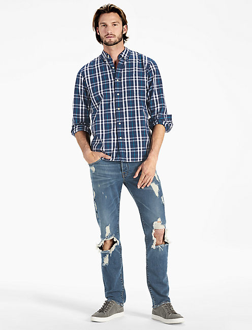 Lucky Plaid One Pocket Shirt