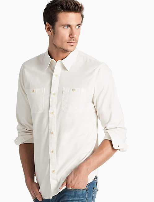 Saturday Stretch Military Oxford Shirt,