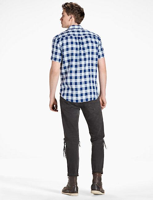 Ballona Shirt, BLUE/TURQ