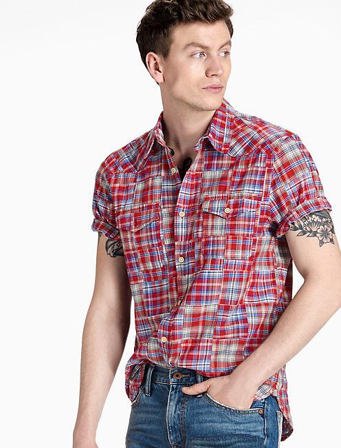 Patchwork Western Shirt,