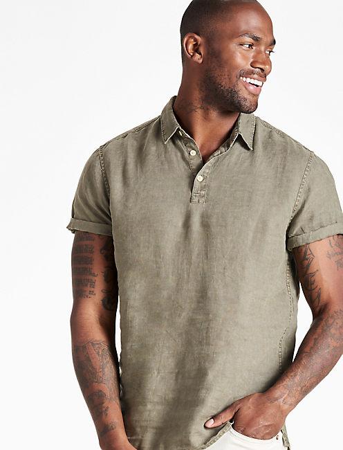 Linen Polo Shirt,