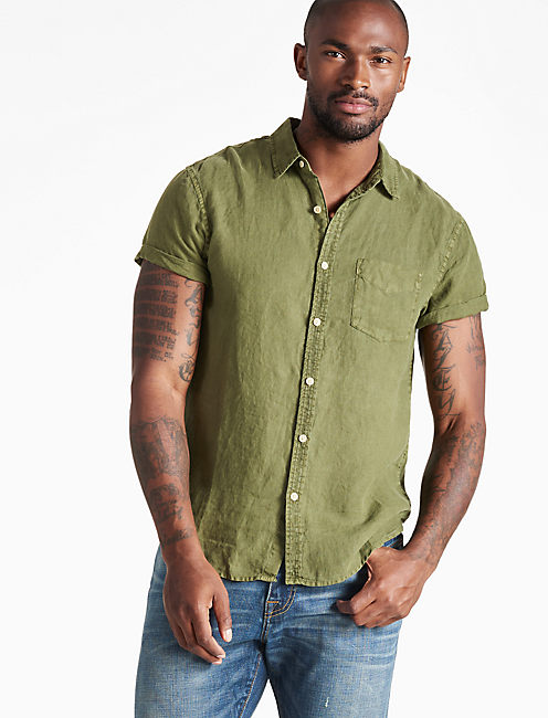 Green Button Down Shirts for Men | Lucky Brand