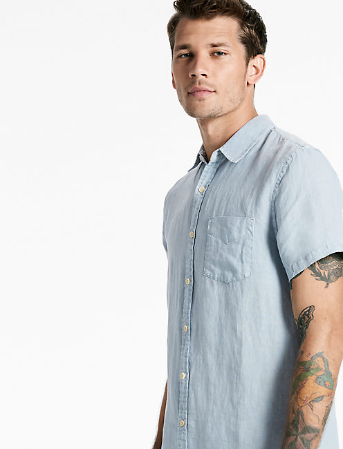LAGUNA LINEN SHIRT, WINTER SKY