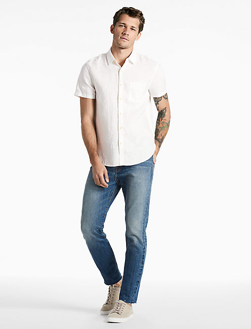 North Shore Linen Shirt, MARSHMALLOW