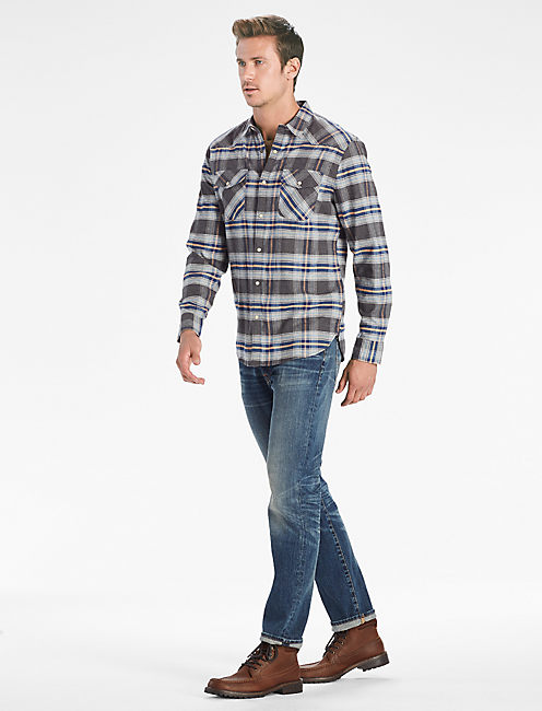 Lucky Saturday Stretch Western Shirt