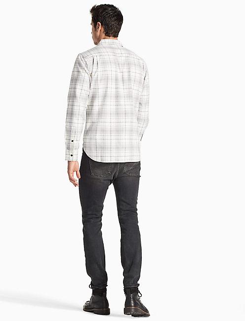 Saturday Stretch Workwear Shirt, GREY PLAID