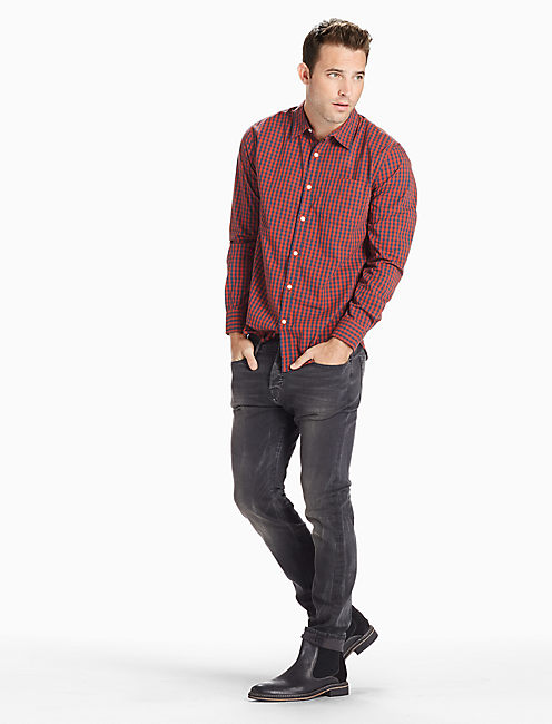 Lucky Saturday Stretch Poplin One Pocket Shirt