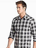 Saturday Stretch Western Shirt, BLACK PLAID