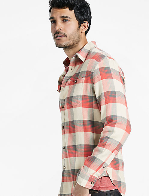 Saturday Stretch Heritage Plaid, NATURAL/RED OMBRE