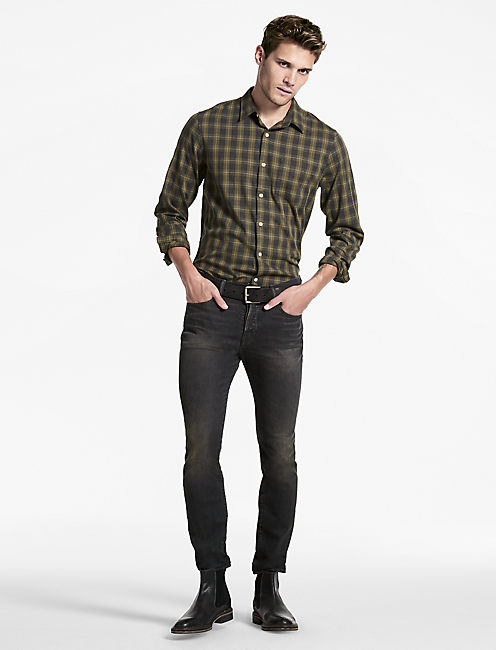Saturday Stretch Heritage Plaid Shirt, OLIVE MULTI