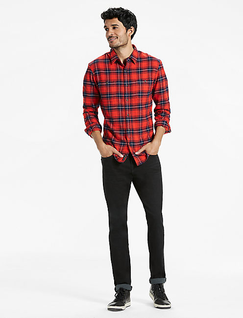 Lucky Saturday Stretch Workwear Flannel Shirt