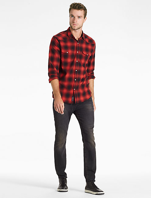Lucky Saturday Stretch Western Flannel Shirt