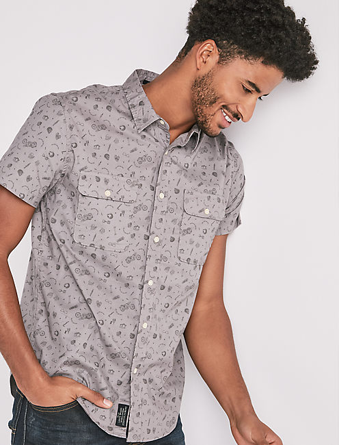 Mason Workwear Printed Shirt,