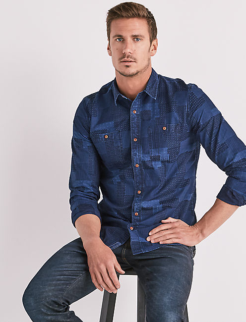 Palisades Patchwork Indigo Shirt,