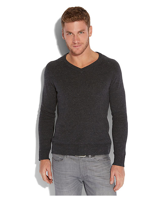 VISTA V NECK SWEATER, 79 CHARCOAL